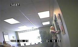 <p>College student Lila Rose, founder of Liveaction.org, is shown in a frame grab from undercover video of Rose at the window of an undisclosed clinic in 2008. With a video camera hidden in her backpack, Rose has become a rising star in the U.S. anti-abortion movement for her clandestine tactics in taking on Planned Parenthood, the nation's largest provider of surgical abortions. REUTERS/Liveaction.org/Handout</p>