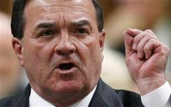 <p>Canada's Finance Minister Jim Flaherty speaks during Question Period in the House of Commons on Parliament Hill in Ottawa May 27, 2009. REUTERS/Chris Wattie</p>