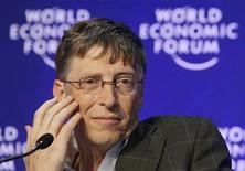 <p>Bill Gates, Microsoft founder and co-chairman of the Bill and Melinda Gates Foundation, attends a session at the World Economic Forum (WEF) in Davos January 30, 2009. REUTERS/Denis Balibouse</p>