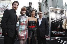 """<p>Elenco de """"O Exterminador do Futuro: Salvação"""" em Hollywood. 14/05/2009. REUTERS/Danny Moloshok</p>"""
