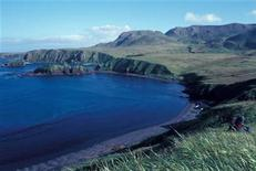 <p>A view of Rat Island in the western Aleutians is seen in this March 28, 2006 file photo. REUTERS/Alaska Maritime National Wildlife Refuge/Handout.</p>