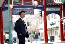 <p>Marshall Wong, co-chair of Asia Pacific Islander group API Equality, poses for a portrait in Chinatown in Los Angeles June 16, 2009. REUTERS/Mario Anzuoni</p>
