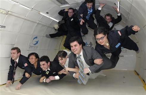 World's first zero-gravity wedding