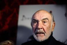 "<p>Actor Sean Connery arrives at a ""Dressed To Kilt"" fashion event in New York March 30, 2009. REUTERS/Lucas Jackson</p>"