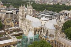 <p>The top of Westminster Abbey is seen in this undated handout image. REUTERS/Dean & Chapter of Westminster/Handout</p>