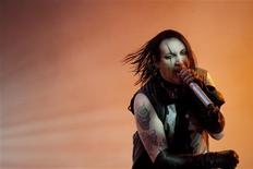 <p>Singer Marilyn Manson performs on stage during the Quart music festival in Kristiansand, July 1, 2009. REUTERS/Tor Erik Schroder/Scanpix</p>