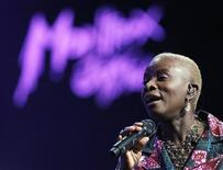 """<p>Angelique Kidjo from Benin performs during a """"Tribute to Island Records founder Chris Blackwell"""" show at the 43rd Montreux Jazz Festival July 10, 2009. REUTERS/Denis Balibouse</p>"""