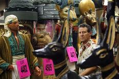 <p>Harvey Schwartz, owner of 20th Century Props, poses in the warehouse in North Hollywood, California July 20, 2009. REUTERS/Mario Anzuoni</p>