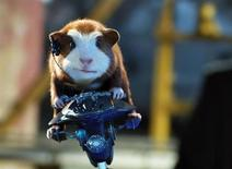"""<p>A scene from the Disney family movie """"G-Force"""", which stars a trio of guinea-pigs with night-vision goggles and motorized exercise balls. REUTERS/Walt Disney Pictures/Handout</p>"""