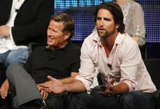 """<p>Cast members of the new Fox Reality Channel series """"Househusbands of Hollywood"""" Charlie Mattera (L) and Grant Reynolds take part in a panel discussion on the series at the Television Critics Association summer press tour in Pasadena, California July 28, 2009. REUTERS/Fred Prouser</p>"""