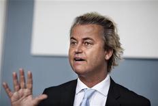 <p>Il leader della destra olandese Geert Wilders. REUTERS/Scanpix/Jens Noergaard Larsen</p>
