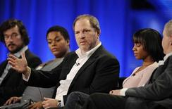 "<p>Executive producer Harvey Weinstein (C) answers questions with (L to R) producer Tim Bricknell, actresses Jill Scott and Anika Noni and author Alexander McCall Smith during the HBO panel for ""The No. 1 Ladies' Detective Agency"" at the Television Critics Association winter press tour in Los Angeles January 9, 2009. REUTERS/Phil McCarten</p>"