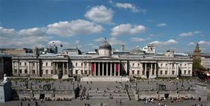 <p>La National Gallery a Trafalgar Square, a Londra. REUTERS/Rob Dawson</p>