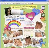 """<p>Una pagine del sito web dell'americana Nadya Suleman, soprannominata """"Octo-Mom"""" per i suoi otto gemellini. REUTERS/www.thenadyasulemanfamily.com</p>"""