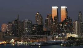 <p>Le torri del Time Warner Center di New York. REUTERS/Gary Hershorn</p>