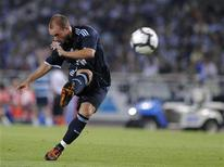 <p>Wesley Sneijder durante una partita REUTERS/Ricardo Ordonez</p>