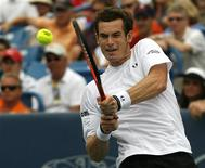 <p>Foto de arquivo do tenista britânico Andy Murray em Cincinnati. 22/08/2009. REUTERS/John Sommers II</p>