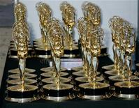 <p>Rows of Emmy Award statuettes are seen at the 2006 Creative Arts Emmys in Los Angeles in this August 19, 2006 file photo. REUTERS/Fred Prouser</p>