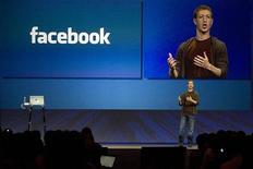 <p>Mark Zuckerberg, fondatore di Facebook, a una presentazione alla stampa. REUTERS/Kimberly White</p>