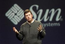 <p>Una conferenza stampa di Sun Microsystems. REUTERS/Lou Dematteis</p>