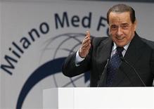 "<p>Italian Prime Minister Silvio Berlusconi speaks during the ""Milano Med Forum 2009"", in downtown Milan July 20, 2009. REUTERS/Alessandro Garofalo</p>"