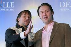 "<p>U.S. Director Richard Linklater (L) and British actor Christian McKay pose during a photocall for the film ""Me and Orson Welles"" at the 35th Deauville American film festival in Deauville September 6, 2009. REUTERS/Pascal Rossignol</p>"