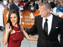 """<p>U.S. actress Jennifer Connelly and her husband British actor Paul Bettany (R) arrive for the gala presentation for the film 'Creation"""" at the Toronto International Film Festival in Toronto September 10, 2009. REUTERS/ Mike Cassese</p>"""