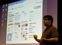 <p>la presentazione di Google Chrome nel settembre 2008. REUTERS/Kimberly White</p>