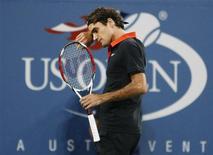 <p>O suíço Roger Federer perdeu a final do Aberto dos Estados Unidos, na segunda-feira, para o argentino Juan Martin Del Potro. REUTERS/Kevin Lamarque(UNITED STATES SPORT TENNIS)</p>