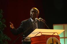 <p>Ivory Coast's President Laurent Gbagbo speaks during the first West Africa Energy and Mining Summit in Yamoussoukro, November 18, 2008. REUTERS/Luc Gnago</p>