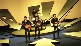 """<p>Кадр из видеоигры The Beatles: Rock Band, полученный Рейтер в Лондоне 9 сентября 2009 года. 5 октября 1962 года в Великобритании вышел первый сингл Beatles - """"Love Me Do"""". REUTERS/MTV GAMES/Harmonix/Handout</p>"""