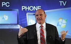 <p>L'AD di Microsoft Steve Ballmer. REUTERS/Luke MacGregor (BRITAIN BUSINESS SOCIETY SCI TECH)</p>