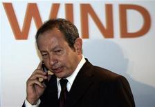<p>Naguib Sawiris, presidente di Wind. REUTERS/Alessandro Bianchi</p>