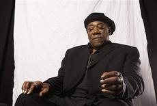 """<p>Musician Clarence Clemons poses for a portrait while promoting his new book """"Big Man"""" in New York, October 21, 2009. REUTERS/Lucas Jackson</p>"""