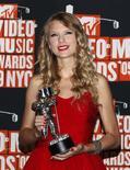 <p>A cantora Taylor Swift ganhou o prêmio de melhor vídeo no MTV Video Music Awards, em setembro. REUTERS/Lucas Jackson</p>