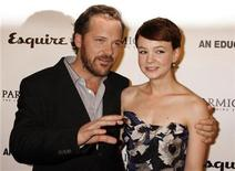 """<p>Actors Peter Sarsgaard (L) and Carey Mulligan, stars of the film """"An Education"""", pose at the film's premiere in Hollywood, California October 1, 2009. REUTERS/Fred Prouser</p>"""
