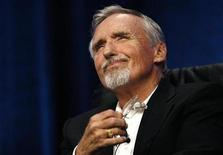 """<p>Actor Dennis Hopper attends a panel for the Starz drama series """"Crash"""" at the Television Critics Association 2008 summer press tour in Beverly Hills, California July 11, 2008. REUTERS/Mario Anzuoni</p>"""