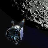 <p>Il satellite Lcross e il razzo Centaur verso la Luna, in un'illustrazione diffusa dalla Nasa. REUTERS/NASA/Handout</p>