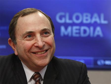 NHL Commissioner Gary Bettman speaks at the Reuters Global Media Summit in New York, December 1, 2009. REUTERS/Brendan McDermid