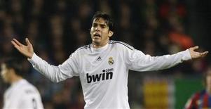 <p>O meia Kaká, em foto de arquivo, foi um dos nomeados ao prêmio de melhor jogador do mundo da Fifa. REUTERS/Albert Gea</p>