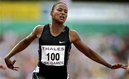 <p>La srpinter americana Marion Jones durante una gara. REUTERS/Jerry Lampen/Files</p>