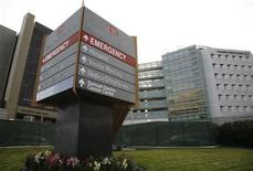 <p>The Cedars-Sinai hospital, where veteran French rocker Johnny Hallyday had surgery, is pictured in Los Angeles December 10, 2009. REUTERS/Jason Redmond</p>