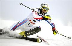 <p>La sciatrice francese Sandrine Aubert. REUTERS/Janerik Henriksson/Scanpix (SWEDEN - Tags: SPORT SKIING) SWEDEN OUT. NO COMMERCIAL OR EDITORIAL SALES IN SWEDEN</p>