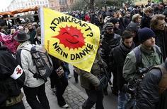 <p>Una manifestazione a Copenaghen durante il vertice sul clima. REUTERS/Christian Charisius (DENMARK - Tags: CIVIL UNREST ENVIRONMENT)</p>