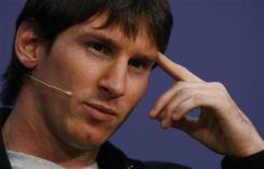 <p>Lionel Messi durante cerimônia da Fifa, em Zurique, no qual recebeu prêmio de Melhor Jogador do Mundo. REUTERS/Arnd Wiegmann</p>
