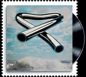 <p>A to-be-released 2010 Royal Mail stamp of the cover of Mike Oldfield's album Tubular Bells is seen in a handout image. REUTERS/Royal Mail/Handout</p>