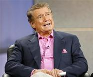 """<p>Host Regis Philbin speaks at the panel for the NBC television show """"America's Got Talent"""" during the """"Television Critics Association"""" summer 2006 media tour in Pasadena, California, July 21, 2006. REUTERS/Mario Anzuoni</p>"""