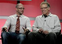 """<p>Damon Lindelof (L) and Carlton Cuse, executive producers of """"Lost"""" take part in the Show Runner panel at the Disney ABC Television Group summer press tour in Beverly Hills, California July 17, 2008. REUTERS/Fred Prouser</p>"""