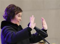 """<p>British singer Susan Boyle performs on NBC's """"Today"""" show in New York, November 23, 2009. REUTERS/Brendan McDermid</p>"""