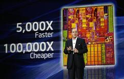 <p>Presidente da Intel, Paul Otellini, faz palestra durante a CES, em Las Vegas.</p>